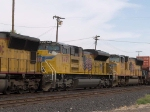 UP 8499 #2npower in a WB intermodal at 3:19pm