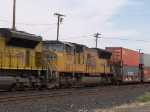 UP 5041 #3 power in a WB intermodal at 3:19pm