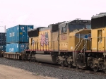 UP 5024 #2 power in his cut down EB intermodal at 3:25pm