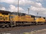 UP 4277 #4 power in a WB intermodal at 4:29pm