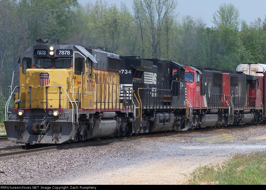 Southbound Manifest With UP 7878 Ex-MP SD40-2 Leading