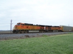 Stopped Northbound BNSF Vehicle Train