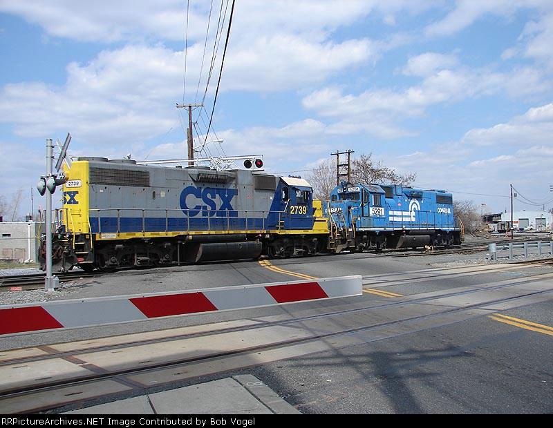 CSX 2739 & NS 5291