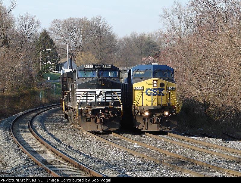 NS 9384 & CSX 9046