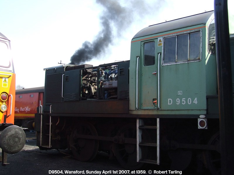 D9504 carrying a 'Ripple Lane RL' allocation sticker.