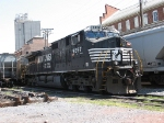 NS 9897 sits out her Sunday at the south end of Cargill