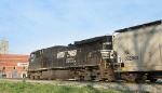 NS 9897 pulls V92 thru the yard