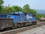 NS 5437 switching in the yard