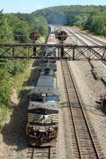 NS 9510 under the signal bridge