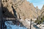 Entering Series of Gore Canyon Tunnels