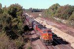 BNSF 884 leads grain train