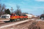 BNSF trio on westbound intermodal