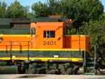 BNSF 2401 front silouette