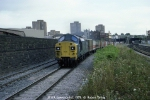 The very first Class 37,  37119 on an Up Freightliner working, Lawrence Hill, 1979.