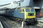 47185 waits to leave Bristol TM with a Footex for Forest Green Rovers, and their appearance at Wembley, in 1982.
