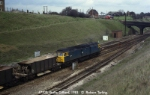 47320 stands at Stoke Gifford with a Permanent Way train.