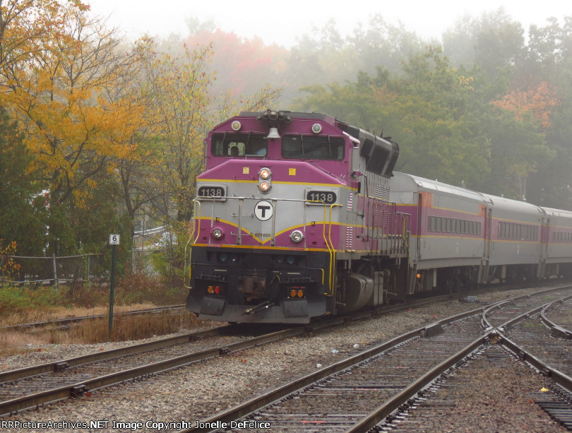 Outbound MBTA in the Fog...