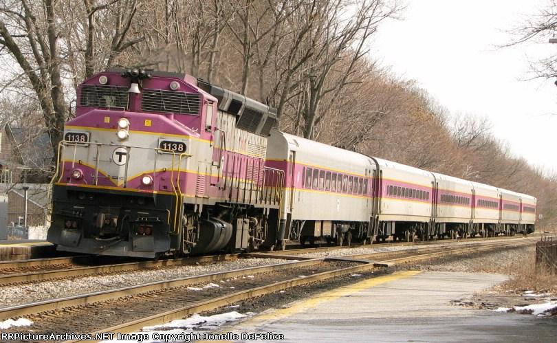 Outbound MBTA Commuter Train