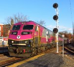 MBTA #2000 Leads Outbound Commuter