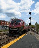 MBTA #2028 Pushing Toward Boston MA