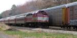 Outbound MBTA Passes Pan Am Switcher