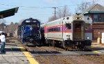 Pan Am Train EDPO & Inbound MBTA Commuter Train
