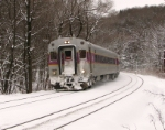 Inbound MBTA Commuter Train