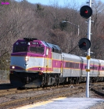 MBTA outbound commuter train