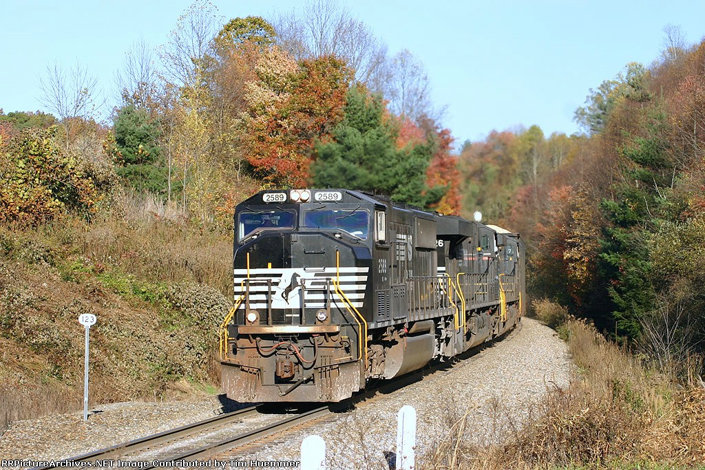 NS 135 passing MP 123