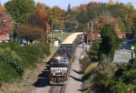 NS 135 rolls through town with fall colors starting to appear