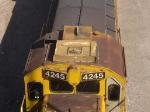 BNSF 4245 Cab detail