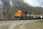 BNSF 5831 is borrowed from coal service