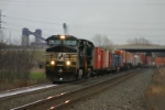 NS 9398 heads intermodal west