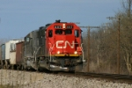 CN 6117 takes off down the DT&I
