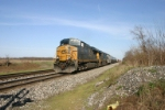 CSX 5244 leads a 2 mile long manifest train
