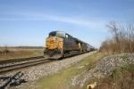 CSX 5244 leads a 2 mile long manifest train
