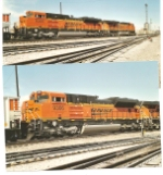 BNSF 9366 SD-70ACe roll behind BNSF 5921