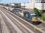 Northbound CSX train K828 passes Amtrak shed