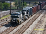 NS 9867 leads southbound