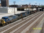 CSX 148 leads southbound empty coal train