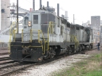 ADMX 1934 & 4559 sitting across the C&NW main from the ADM plant
