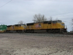 UP 4872 & 4997 rolling into the yard