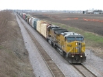 UP 9815 & 9032 pulling east with their train
