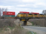 UP 8425 leading over Highway E41