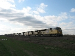 UP 8514 leading 2 other UP units, 3 NS units and 1 HLCX engine