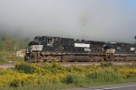 NS 9271 heads out of the moring fog