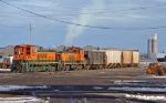 BNSF 3463 kicking cars at Rice's Point Yard