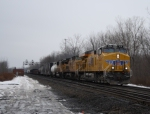 CSX Q390, Union Pacific Runthrew