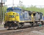 An Ex-Conrail C40-8W Leads a Westbound Intermodel