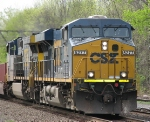 A CSX Intermodel Slows For a Speed Restriction